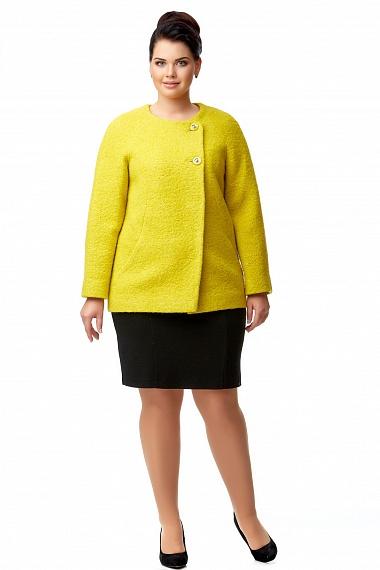 25f2813a2bd Пальто Инесса желтое — купить в интернет-магазине Прима Донна